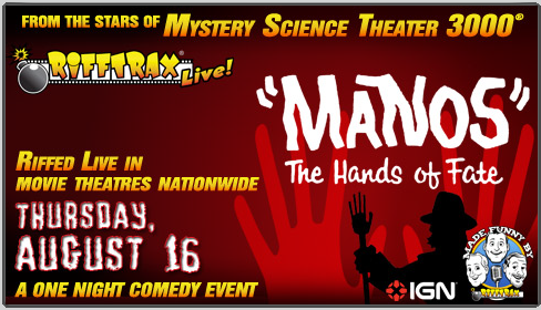 Image result for manos hands of fate rifftrax