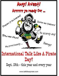 International Talk Like A Pirate Day 10th Anniversary Inductee- October